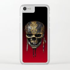 Dead Mans Skull Clear iPhone Case
