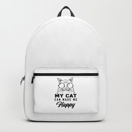 My cat can make me happy Backpack