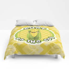 CUNT ON THE COB Comforters