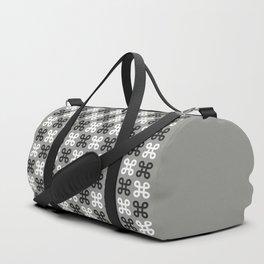 Geometric Pattern 87 (gray black loops) Duffle Bag