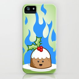 Flaming Pudding iPhone Case