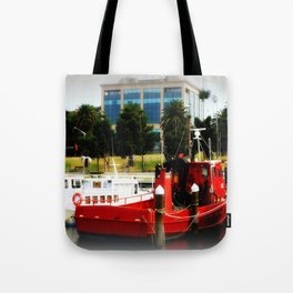 Little red tug Boat Tote Bag