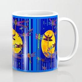Dragonflies Moon Fantasy Blue Art Abstract Coffee Mug