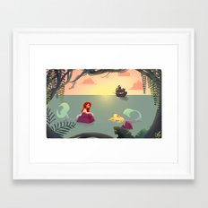 Mermaid Lagoon Framed Art Print