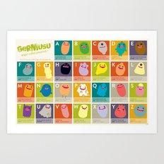 Germ Inspired Alphabet Art Print