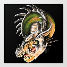 Armored Dragon Canvas Print