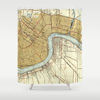 new orleans Shower Curtains featuring New Orleans by Larsson Stevensem