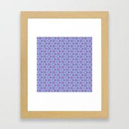 Hex Pattern 65 - Purple/Pink Framed Art Print