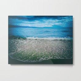 Summer time, sea, beach, sand, waves. Metal Print
