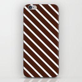 Cocoa Diagonal Stripes iPhone Skin