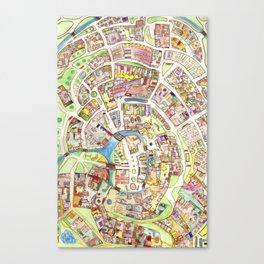Cityplan Canvas Print