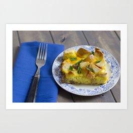 Sausage and Egg Breakfast Casserole Art Print