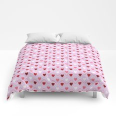 Valentine's Day - Pink Heart Pattern Comforters