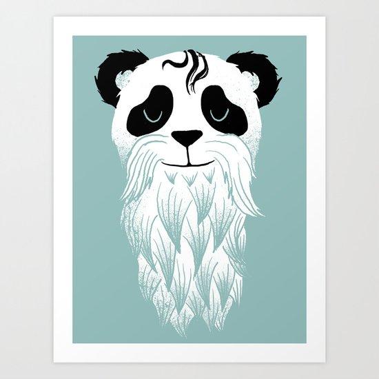 Panda Beard Art Print