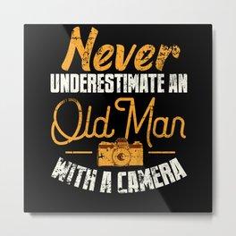 Camera Photographer Grandpa Metal Print