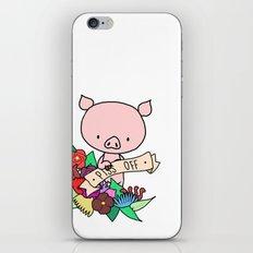Piggy, PISS OFF! iPhone & iPod Skin
