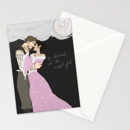 Outlaw Queen - Robin And Regina, a dance in the moonlight Stationery Cards