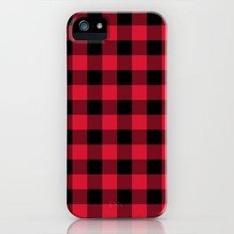 Red Flannel Buffalo Plaid Lumberjack iPhone Case