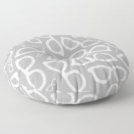 Smart Glasses Pattern - Grey Floor Pillow
