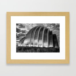 Monochrome Dawn - Kauffman Center Kansas City Missouri Framed Art Print