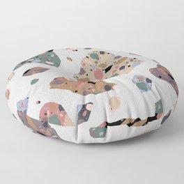 Terrazzo On Terrazzo Floor Pillow