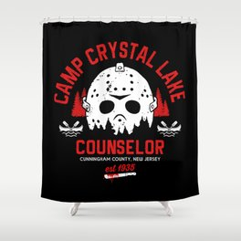 Camp Crystal Lake Counselor Shower Curtain