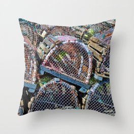Lobster cage Throw Pillow