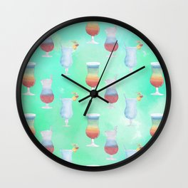 Cocktail Hour Neck Gator Frozen Beverages Cocktails Wall Clock
