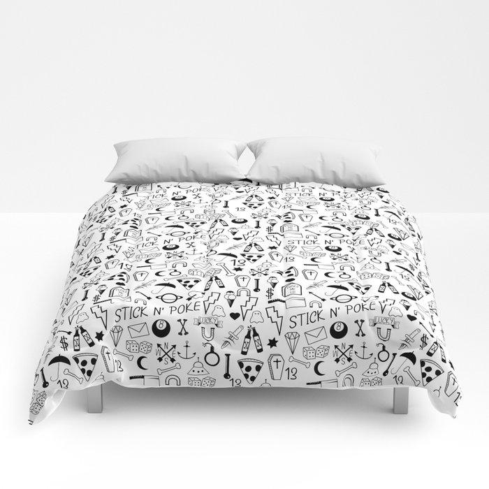 Stick and Poke Tattoo Comforters