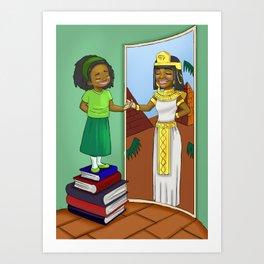 Finding my inner Queen Art Print