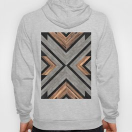 Urban Tribal Pattern No.2 - Concrete and Wood Hoody