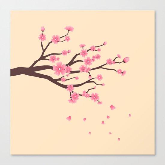 Cherry branch Canvas Print