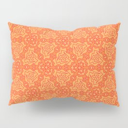 Patterns: Orange Daggers Pillow Sham