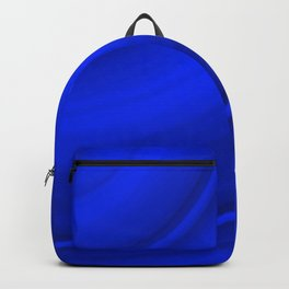 Hot voluminous ultramarine curved lines with delicate outlines of ceramic semicircles.  Backpack