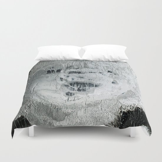 face texture white Duvet Cover