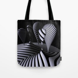 mirrored globs in OpArt-design Tote Bag