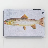trout iPad Cases featuring Brown Trout by Krazy Squirrel