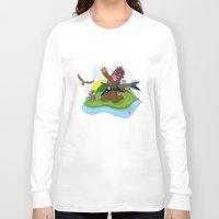 bigfoot Long Sleeve T-shirts featuring Bigfoot Rocks! by Peteman