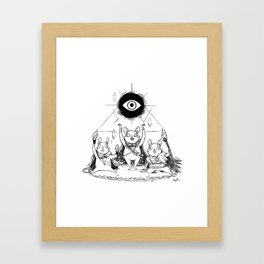 Three Blind Mice Framed Art Print