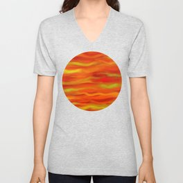 Pumpkin Spice and Butternut Squash Abstract Unisex V-Neck