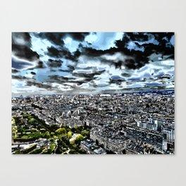 Paris - Blick vom Eiffelturm 1 Canvas Print