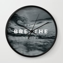 Ocean Motto Wall Clock