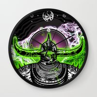 abyss Wall Clocks featuring Abyss  by dethdealer