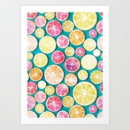 Citrus bath Art Print