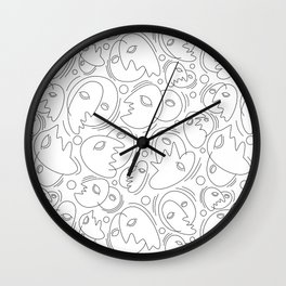 Masks Wall Clock