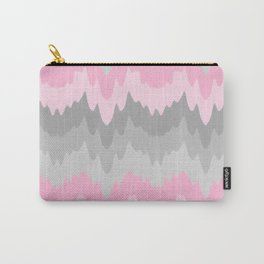 Pink Grey Gray Ombre Chevron Camo  Carry-All Pouch
