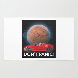 SpaceX Dont Panic Rug