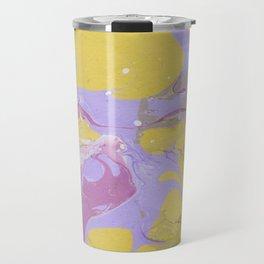 Yellow Abstract painting drops Travel Mug