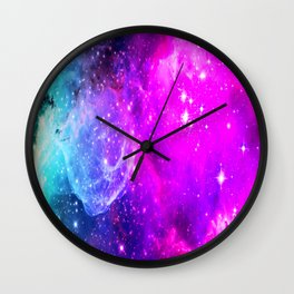 galaxy unicorn gradi Wall Clock