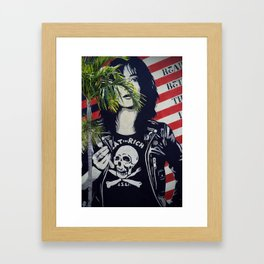 Eat The Rich Grafitti Framed Art Print